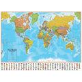 Hemispheres Laminated Map, U.S./World 2-Map Pack