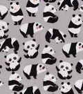 Snuggle Flannel Fabric -Sketched Rolling Pandas