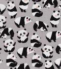 Snuggle Flannel Fabric 42\u0022-Sketched Rolling Pandas