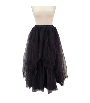Maker's Halloween Adult Long Tutu-Black
