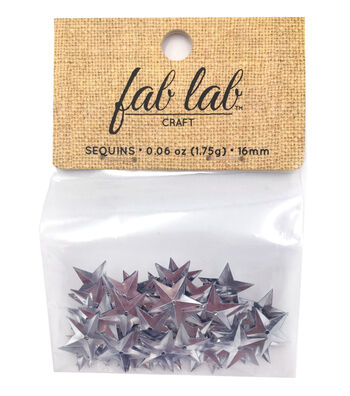 Sequin Star Silver-12pk