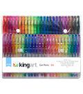 KINGART Soft Grip Gel Pen Set 50pk-Assorted Colors