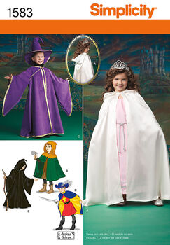 Simplicity Pattern 1583A Child's Caped Costume-Size 3-4-5-6-7