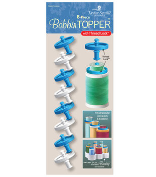 Taylor Seville 8 pk 1.25''x0.9'' Bobbin Toppers with Thread Lock
