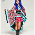 Simplicity Pattern 8317 Misses\u0027 Cosplay Kimono Costumes-Size H5 (6-14)