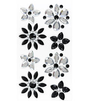 Jolee's Boutique 8 Pack Bling Stickers-Flowers, , hi-res