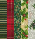 Jelly Roll Cotton Fabric 2.5\u0022-Christmas 1