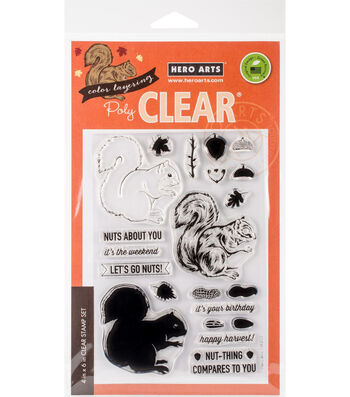 Hero Arts 21 pk Color Layering Cling Stamps-Squirrel