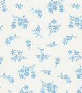 Quilter\u0027s Showcase Cotton Fabric 44\u0022-Alaskan Blue Tossed Ditsy Floral