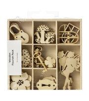 Kaisercraft Wood Mini Themed Embellishments-Enchanted, 45/Pkg, , hi-res