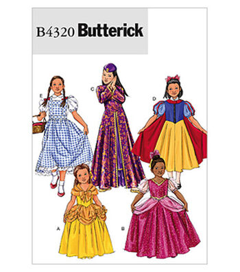 Butterick Pattern B4320 -Children's/Girls' Storybook Costumes