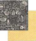 Family Recipes Double-Sided Cardstock 12\u0022X12\u0022-Cuisine