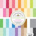 Doodlebug Petite Prints Double-Sided Cardstock 12\u0022X12\u0022-Floral & Rainbow