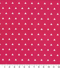 Quilters Showcase Cotton Fabric-Triangle Pink