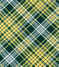 Snuggle Flannel Fabric -Kate Green & Yellow Plaid