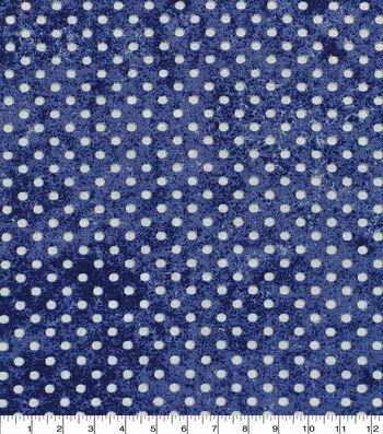 Keepsake Calico Cotton Fabric -Dot Texture Navy