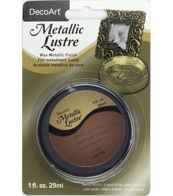 DecoArt Metallic Lustre 1 fl. oz. Wax-Iced Espresso