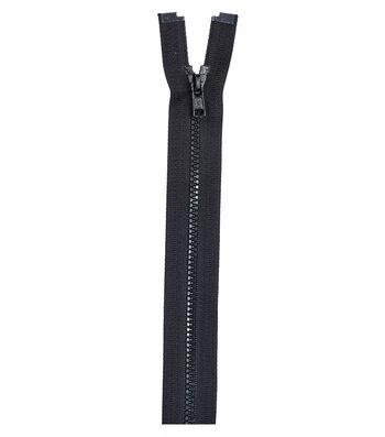 "Molded Separating Zipper 12""-Black"
