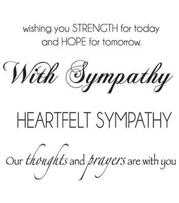 "Mini Clear Stamps 3""X5""-Sympathy Words"