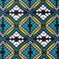 Global Cotton Shirting Fabric-Teal, Black & White Diamonds