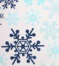 Holiday Showcase Christmas Cotton Fabric 43\u0027\u0027-Snowflakes on White