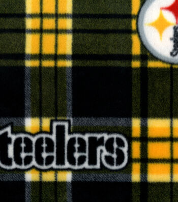 Pittsburgh Steelers Fleece Fabric -Plaids