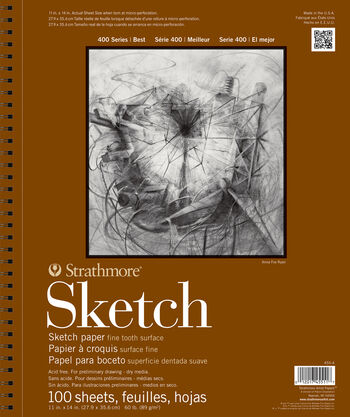 Strathmore 400 Series 100 Sheets 11''x14'' Wire Bound Sketch Pad