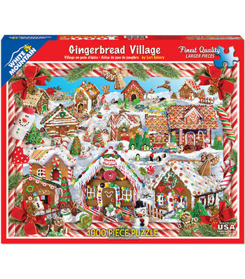 White Mountain Puzzles 24''x30'' Jigsaw Puzzle-Gingerbread Houses