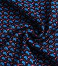 Silky Crepe Fabric 53\u0022-Blue Geo