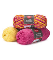 Red Heart Scrubby Smoothie Yarn, , hi-res
