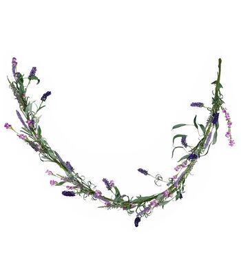 Fresh Picked Spring 66'' Wildflower & Lavender Garland-Purple
