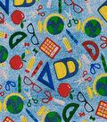 Novelty Cotton Fabric-School Supplies