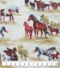 Anti-Pill Plush Fleece Fabric-Running Wild Horses