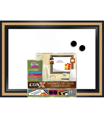The Board Dudes Corx Framed Magnetic Dry Erase Combo Board