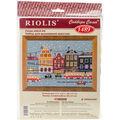 RIOLIS Combopu Cama 11.75\u0027\u0027x8.25\u0027\u0027 Counted Cross Stitch Kit-Tram Route