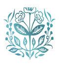 Couture Creations Le Petit Jardin Hotfoil Stamp-Floral Wreath