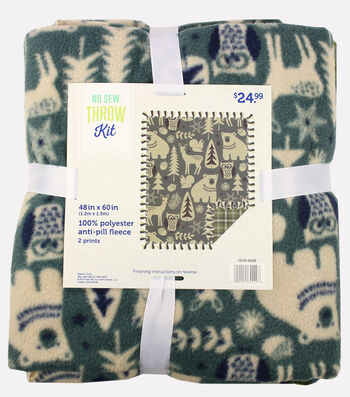 "No-Sew Fleece Fabric 49""-Arkansa Durwood"