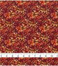 Harvest Cotton Fabric 44\u0022-Packed Leaf Vines on Brown