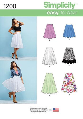Simplicity Pattern 1200H5 6-8-10-12--Skirts & Pants