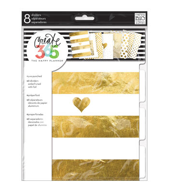 The Happy Planner Dividers-Gold