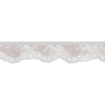 1 In Very Fn Eyelet Scallop Trim-Light Pink/White