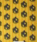 Harry Potter Fleece Fabric 58\u0027\u0027-Hufflepuff Crest on Stripes