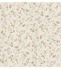 Garden Pink Wash Floral Wallpaper