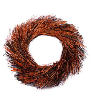 Blooming Autumn 17.32''x2.76'' Wreath Base-Natural Rust