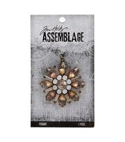 Tim Holtz Assemblage Pendant-Sparkling Floral, , hi-res