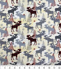 Novelty Cotton Fabric-Buffalo Check Moose