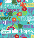 Snuggle Flannel Fabric 42\u0022-Friendship Words