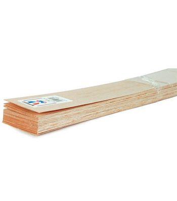 """Balsa Wood 36"""" Sheet-10PK/1/4""""x4"""""""