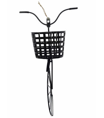 Hello Spring Bike Wall Decor-Black