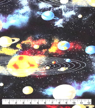 Super Snuggle Flannel Fabric-Solar System